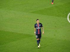 L'Argentin Angel Di Maria, sur la pelouse du Parc des Princes, à l'occasion de sa première titularisation contre Bordeaux (5e journée de Ligue 1).
