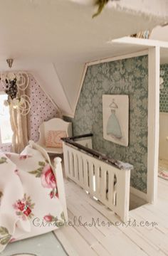 Cinderella Moments: Wiltshire Cottage Dollhouse- lots of good ideas for making things for the house.