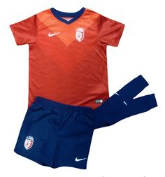 Lille Kids (Boys Youth) home Kit 2014 – 2015, To fit age 4-5 right up to age 7-8, excellent value for shirt shorts and socks, at Soccer Box now http://www.soccerbox.com/10113