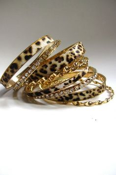 Bangles? Good. Leopard print? Good. What's not to love?