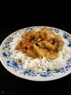 Kuracie s mrkvou a sampinonmi v syrovej omacke Stuffed Mushrooms, Good Food, Rice, Meat, Indie, Button, Stuff Mushrooms, Healthy Food, Laughter