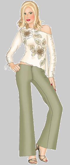 Vista previa - # 5330 Blusa con hombro asimétrico