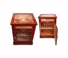 Glass Top Cigar Humidor Cabinet