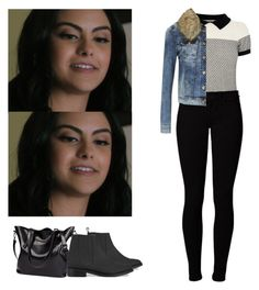 """Veronica Lodge school appropriate outfit - Riverdale"" by shadyannon ❤ liked on Polyvore featuring Oasis, Opening Ceremony, Vero Moda and ONLY"