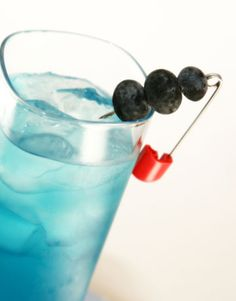 Go organic, and seasonal where you can. In addition to a fun cocktail (the one shown here is made with organic blueberry juice and organic vodka.