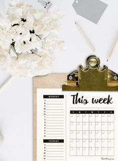 weekly and monthly free planner printable