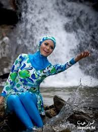 swim-suit Hijab Style, Modest Swimsuits, Mode Hijab, Hijab Outfit, Muslim, Wetsuit, Bathing Suits, Swimming, Couture