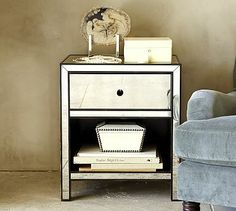 Marnie Mirrored Bedside Table #potterybarn