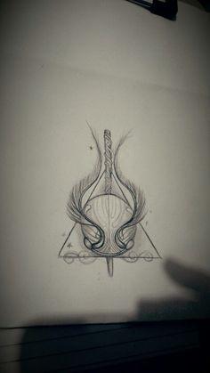 Tattoo Sketches 810999845386318705 - Harry Potter Tattoo Skizze… – Tattoo Muster – Harry Potter Tattoo Skizze … … Source by Harry Potter Snitch, Harry Potter Deathly Hallows, Harry Potter Art, Deathly Hallows Tattoo, Trendy Tattoos, New Tattoos, Body Art Tattoos, Sleeve Tattoos, Tatoos