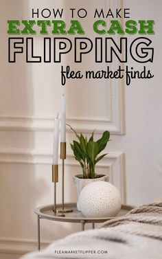 How To Make Extra Cash Flipping Flea Market Finds | Flipping Side Hustle - Do you have a full-time job but looking for ways to make extra cash on the side? Click to learn how flipping and reselling used items for profit is the perfect side hustle to bring in an extra income and help with paying off debt. | Flea Market Flipper | Part-Time Flipping | Ways To Make Extra Money At Home | Flexible Jobs Ideas | Online Jobs #flipping #reseller #ebay #money #entrepreneur #payoffdebt | workfromhome