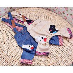 Lindo coelho padrão Cowboy Calças Suspender para cães (cores sortidas, XS-XL) – BRL R$ 31,09