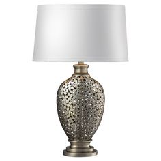 Potnia Table Lamp in Antique Silver Leaf