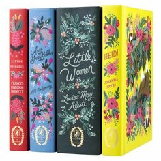 Little Women by Louisa May Alcott Anne of Green Gables by L.M. Montgomery Heidi by Johanna Spyri A Little Princess by Frances Hodgson Burnett