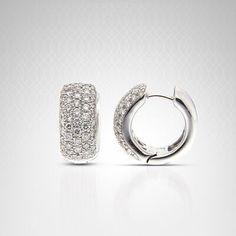 #Diamond Hoop #Earrings Pav By Bailey Banks and Biddle - Potomac