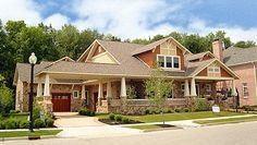 Dream house!! House Plan 74417 | Craftsman Plan with 6856 Sq. Ft., 5 Bedrooms, 6 Bathrooms, 4 Car Garage