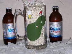 Hand Painted Beer Mug for your Golfer perfect by ArtworkByKimTyson, $17.75