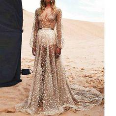 Летнее пляжное платье туника элегантный сверкающий длинное летнее