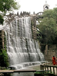 Waterfall in The Rock Garden - Chandigarh, India