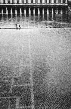 Gianni Berengo Gardin - Acqua alta a San Marco, Venezia, 1958