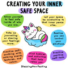 Do you have an inner safe space in your mind where you feel loved, safe, and grounded? Discover how to find yours. Discover your calm and centered self. Mental And Emotional Health, Mental Health Matters, Mental Health Quotes, Mental Health Awareness, Therapy Worksheets, Therapy Activities, Self Care Bullet Journal, Self Love Affirmations, Self Care Activities