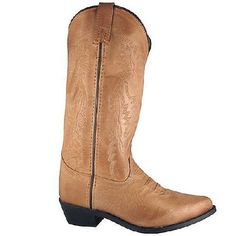 ! Ladies Smoky Mountain Boots - Leather Tan Western Cowboy Boot - Bomber