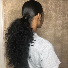 Most current Totally Free Ponytail Hairstyle for black women Suggestions A pony Ponytail Hairstyles black current free hairstyle Pony Ponytail Suggestions Totally Women Long Ponytail Hairstyles, Hair Ponytail Styles, Easy Hairstyles For Medium Hair, Curly Hair Styles, Natural Hair Styles, Curly Ponytail Weave, Ponytails For Black Hair, Natural Hair Ponytail, Wedding Hairstyles