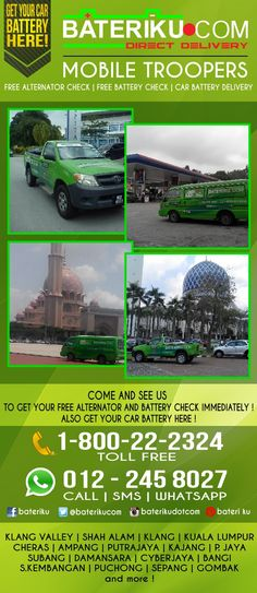 COME N SEE US FOR FREE ALTERNATOR CHECK & BATTERY CHECK ! GET YOUR BATTERY HERE TOO.