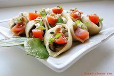 Muszle z bakłażanem, Conchiglioni rigati, przepis na makaron z bakłażanem, pomidorem i kozim serem, pasta. Makaron muszelki nadziewany, muszelki z makaronu z nadzieniem.