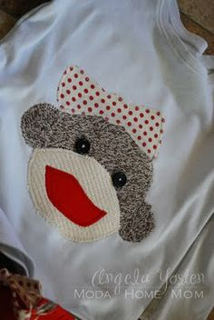 Sock monkey shirts for the kids. (For Christmas perhaps)