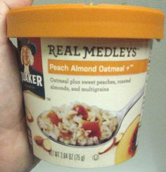 Quaker Oats Real Medleys in Peach Almond.  YUMMY!