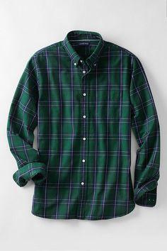 Men's Tall Sail Rigger Oxford Shirt- Modern Maclean Hunting Tartan- Lands' End - I own this one