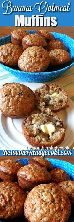 BANANA OATMEAL MUFFINS - The Southern Lady Cooks