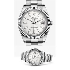 Rolex Oyster, 41 mm, Steel and White Gold, Perpetual Datejust II