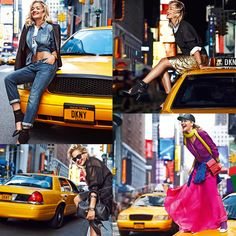 DKNY Resort 2014 ad campaign stars British singer Rita Ora. Photographed on the busy and colorful streets of New York the campaign is a colorful as the city itself.
