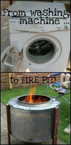 DIY Fireplace Ideas - Outdoor Firepit On A Budget - Do It Yourself Firepit Projects and Fireplaces for Your Yard, Patio, Porch and Home. Outdoor Fire Pit Tutorials for Backyard with Easy Step by Step Tutorials - Cool DIY Projects for Men and Women Old Furniture, Repurposed Furniture, Furniture Makeover, Furniture Ideas, Patio Makeover, Refurbished Furniture, Garden Furniture, Rustic Furniture, Furniture Websites