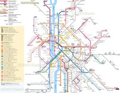 metro subway underground tube tram tramway station suburban hev railway line bkk public transport system network airport terminal link Budapest top tourist attractions map