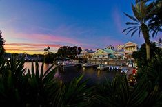 Sunset at the Disney Old Key West Resort