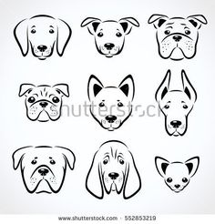 Marvelous Drawing Animals In The Zoo Ideas. Inconceivable Drawing Animals In The Zoo Ideas. Dog Drawing Simple, Animal Line Drawings, Dog Mask, Bulldog Tattoo, Dog Vector, Line Art Vector, Dog Logo, Dog Crafts, Dog Illustration