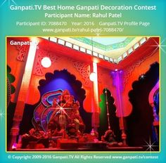 Decoration Pictures, Decorating With Pictures, Ganpati Picture, Ganpati Festival, Festival Decorations, Ganesha, Picture Video, Rocks, Tv
