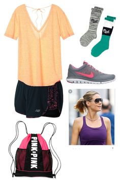 """Peru day 7"" by rikey-byrnes on Polyvore featuring New Balance, Victoria's Secret, Victoria's Secret PINK and NIKE"