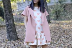Favorite trend of this fall 2014: the short sleeve coat! #outfit #ootd #style #streetstyle #fashion #hair #trends #pursesandi #lauracomolli