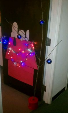 "Christmas Door Decorating Contest Winners | my work's door decorating contest I did ""Charlie Brown Christmas ..."