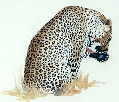 Leopard watercolor tutorial