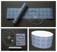 ovale lampenkap zelf bekleden met behang / make your own oval lampshade with wall paper