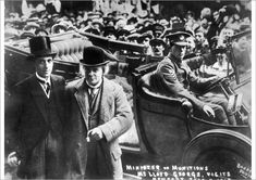 An A1 poster sized print, approx 23c33 inches (594x841 mm). David Lloyd George, 1st Earl Lloyd-George of Dwyfor (1863-1945), British Liberal Prime Minister from 1916 to 1922. Seen here as Minister of Munitions, visiting Newport, Wales, during the First World War. There was a munitions shortage at the time. Date: 11 June 1915. david, dwyfor, earl, government, june, liberal, lloyd, minister, mp, munitions, newport, prime, shortage, visit, visiting, wales, war time, weapons, welsh, ww, ww 1. Image First Prime Minister, Newport Wales, British Prime Ministers, Historian, First World, Online Printing, Photographic Prints, David, Poster Prints