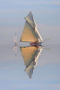 Bernadette B - sailboat Watercolor Landscape, Watercolor Paintings, Seascape Paintings, Landscape Paintings, Classic Sailing, Boat Art, Boat Painting, Belle Photo, Sailing Ships