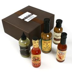 Hot Sauce Lover's Gift Box (34 ounce) - http://www.yourgourmetgifts.com/hot-sauce-lovers-gift-box-34-ounce/