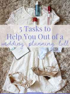 Have you found yourself at a stand-still in wedding planning? Here are five easy tasks to get you out of a wedding planning lull. | Slashed Beauty #BrideGuideBabbleboxx #ad
