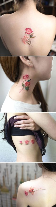 Cuando llega la primavera aparecen las flores, y ahora también en los tatuajes. Estos de aquí son diseños repletos de flores en eclosión, algunos con aspecto retro, pero todos tan bonitos que querrás tener uno.      1