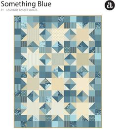 FREE Quilt Pattern Download: Make this Ring Bearer quilt featuring Something Blue by Laundry Basket Quilts. Quilt designed by Edyta Sitar.